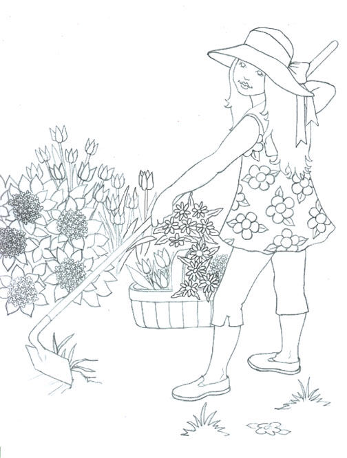 april showers bring may flowers coloring pages title=